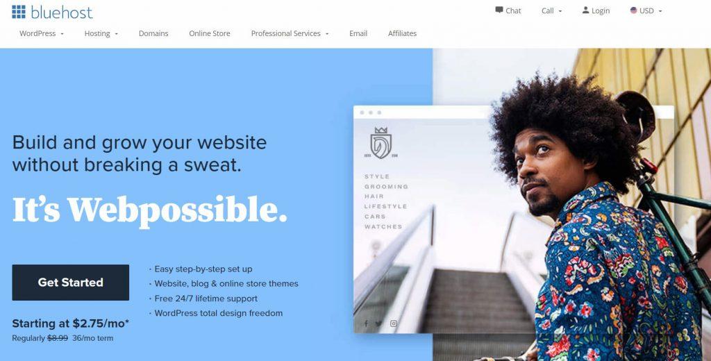 BlueHost web hosting coupon guru