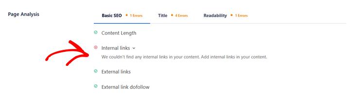 set up internal links